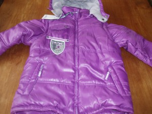 Another World winterjas jongen purple